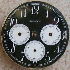Geneve Pocket watch movement & dial double calendar 43 mm. in diameter