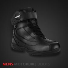 Winter Mens Motorcycle Boots Black Waterproof Motorbike Leather Touring Shoes