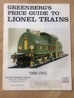 Greenberg's Price Guide To Lionel Trains  1900 to 1942 catalog #21 Feb 1979