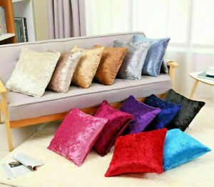 Crushed Velvet Cushion Covers Luxury Plain Cushion Covers 18'',24'',30''