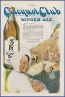 Vintage 1920 CLICQUOT CLUB Ginger Ale Soda Pop Soft Drink Millis MA 20s Print Ad