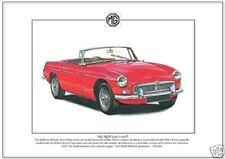 Paper MG 1967 Car Sales Brochures