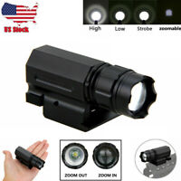 Tactical 3000LM 3-Modes XPG-Q5 LED Flashlight Zoomable Gun Torch Pistol Light US