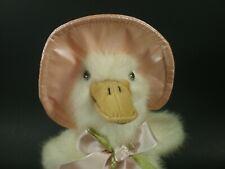 "Barrington Plush DUCK 9"" Vintage Rare Pink Rain Hat McDRIZZLE FUZZY Toy Stuffed"