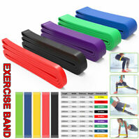 Resistance Band Abs Yoga Pilates Exercise Band Fitness Workout Strength Training