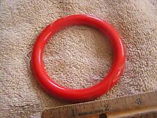 Beautiful  Red Carved Bakelite Bracelet