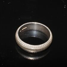MENS SILVER RING 22MM INTERNAL FINGER DIAMETER USED CONDITION WEDDING RING