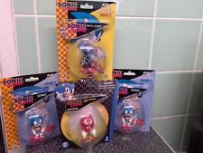 Sonic the Hedgehog X4 figures bundle boxed =Rare Metal Sonic,2 Sonics,1 Knuckles