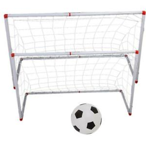 Football Filet avec pompe à billes pour Poteau de But Junior Entraînement Sport