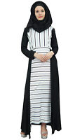 Bimba Manches Longues Blanc De Femmes Abaya Islamique Robe Maxi-XHq