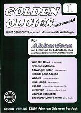 Akkordeon Noten : Golden Oldies 1 mittelschwer mit 2. Stimme (ad. lib.) ECORA