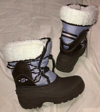 Skechers Girls Snow Winter Boots Size 1 Vgc