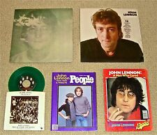 JOHN LENNON: IMAGINE (French/poster)/COLLECTION/ XMAS (Green Vinyl)/PEOPLE Mag.
