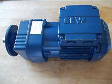 NEW SEW EURODRIVE GEARMOTOR RF17DRS71S4 RATIO 8.63:1 /  HP 0.33