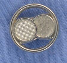 13mm Silver Shank  Button