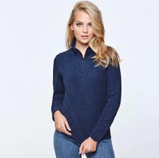 Ladies / Womens Half Zip Up Warm Micro Fleece Jacket Top in Black, Blue & Pink