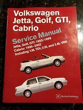Volkswagen Jetta, Golf, GTI, Cabrio Service Manual, 1993-1999 : Including Jetta