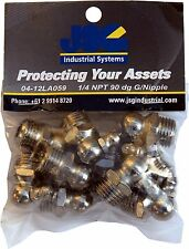 Grease Nipples 1/4 NPT - 90 Dog Pack 0f 10
