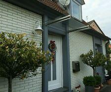 Edelstahl Vordach mit 2 Trägern und Klarem VSG in 160cm x 100cm x 8,76mm