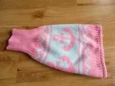 Pink & Blue Anchor Design Dog Jumper Size X-Small