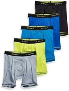 Hanes Boys' Boxer Brief, Assorted Solids, Medium, Assorted Solids, Size Medium