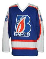 Any Name Number Size Kamloops Blazers Custom Retro Hockey Jersey Pickell Blue