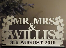 Personalised MR&MRS Sign Wedding Top Table Decoration Present Gift Keepsake