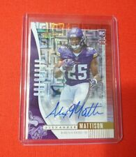 2019 Absolute Football Alexander Mattison Rookie RC Red Auto 29/50 Vikings