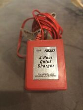 Nikko 4 Hour Quick Nicad Battery Charger 1294 Red 12VDC 300mA