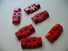 Lego 6 garde boues rouges set 556 602 672 6690 / 6 red mudguard w/ arch smooth