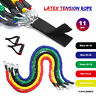 11pcs Set Resistance Bands 100lb Workout Exercise Yoga Fitness Tubes For Home
