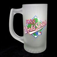 1 Vtg MLB Oakland Athletics World Series 1988 A's Frosted Glass Beer Mug 2Avilbl