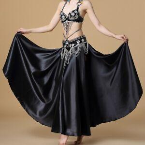 Arabic Belly Dancer Beaded Bra Top Hip Belt Slit Skirt Suit Set Festival Costume