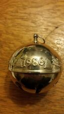 Wallace 1986 Silver Plate Bell/Ornament - 4 available