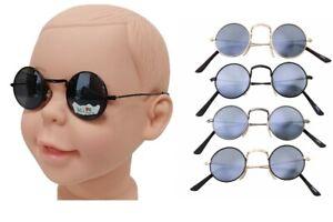Baby Kids Retro Sunglasses Children Style Boys Girls Age 1-3 Round Frame