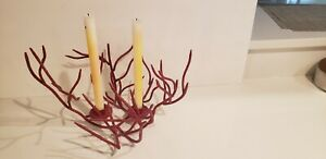 """Red """"Coral"""" Candleabra"""