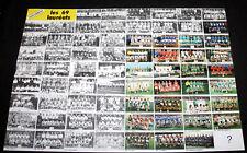 FOOTBALL POSTER ASSE NANTES OM LYON BASTIA REIMS VAINQUEURS FINALE COUPE FRANCE