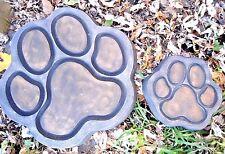 """dog paw 1/8th"""" plastic molds concrete plaster mould  14"""" x 1.5""""... 7"""" x 1.5"""""""