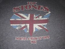 the STONES NORTH AMERICAN TOUR 1981 VINTAGE STYLE CONCERT SHIRT ROLLING STONES