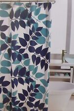 "Hillcrest Twin Leaves Fabric Shower Curtain 72"" x 72"" NIP"