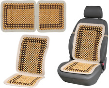 Wood Beaded Car Seat Cover Cool Cushion Bead Back Massage Massager Office Chair