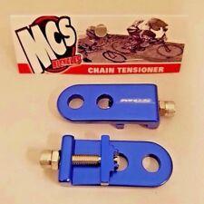 "MCS BMX 3/8"" CHAIN TENSIONERS BLUE"