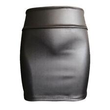 Women Black Pencil Bodycon High Waist Mini Slim Solid Skirt Short Skirts 3c XXXL