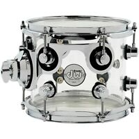 DW Design Series Acrylic Tom with Chrome Hardware 8x7 Inch Clear