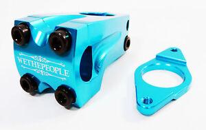 Wethepeople Supreme Mountain MTB BMX Cycling Bike Stem 22.2mm 48mm Blue