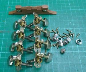 Mandolin tuners, ferrules, screws & bridge mandolin kit