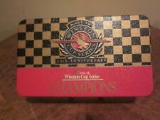 """NASCAR WINSTON CUP SERIES 25th ANNIVERSARY CHAMPIONS TIN COMPLETE  """"LOOK"""""""