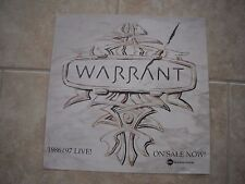 Warrant 1986/1987 Live! Promo LP Photo Flat 12x12 Poster One Side