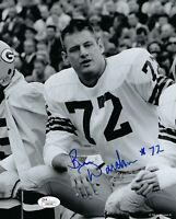 1961 PACKERS Ben Davidson signed photo 8x10 JSA COA AUTO rare Autographed ROOKIE