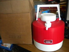 NOS Vintage 1970s Thermos Picnic Water Jug Red & White Plastic 1 Gallon Made USA